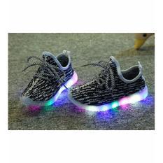 Sepatu Anak LED Hitam Putih Lucu