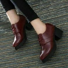 Sepatu Boot Docmart Wanita Style Maroon