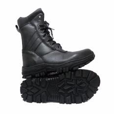 Sepatu Boots J8 PDL TNI POLRI Standard - Hitam