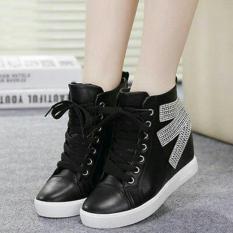 Sepatu Boots Kets Sport Wanita BT01 - Hitam