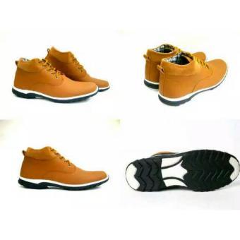 Harga Sepatu Boots Pria Dalmo Brodo Tan Sepatu Pria Keren Online Murah -  creasstore 5c0c6bc8bf