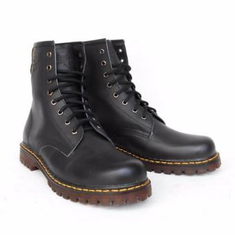 Sepatu Boots Pria Docmart Dr Martens 8 Lubang / hole - KULIT [Hitam]