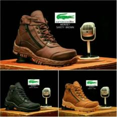 Sepatu Boots Safety Crocodile Morisey Boot Murah Resleting Lacoste