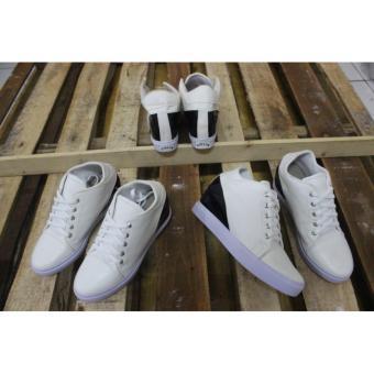 sepatu boots wanita hitam putih