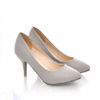Sepatu High Heels Pump Wanita TB41 - Grey