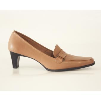 Sepatu kerja wanita formal - pantofel kulit - Ivory