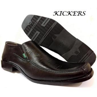Sepatu Kickers Kulit Sepatu Kerja Pria Elegant Hitam black