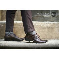 Sepatu Pantofel Cevany Tali Rempel Kulit Asli / Sepatu Pria Kantor TR C01