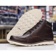 Sepatu Pria Boots Casual Kulit Sapi Dr.Faris - Brown
