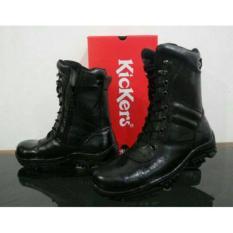 Sepatu Safety Kickers Pdl Polri Tni Boots Tinggi Kulit Asli