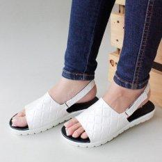 Sepatu Sandal Platform Slingback CL01 - Putih