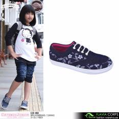Sepatu Sneakers Anak Perempuan CZE 090 Blue Motif