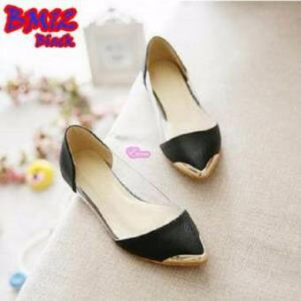 Sepatu Teplek Mika Princess Hitam / Yutaka Flat Shoes Black