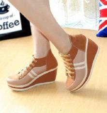 Sepatu Wainta Wedges Young Tan