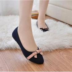 Sepatu Wanita Flat Shoes Pita SDB50 Hitam