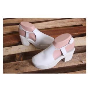 Sepatu Wanita Heel Tutong - White