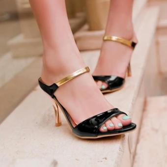 Sepatu Wanita High Heels J05 Black