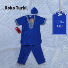 Setelan Koko Turki - Biru