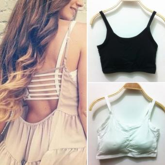 aba04e0b1d9 Sexy Women Bralette Cage Caged Back Cut Out Padded Bra Bralet Crop Top  White - intl