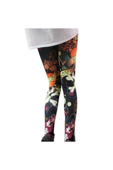 Sexy Women Vintage Skull Skeleton Bone Stretchy Tights Skinny Leggings Pantyhose