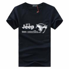 Shopaholic Kaos Katun Pria JEEP O Neck Size S / T-Shirt - Black