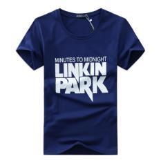 Shopaholic Kaos Katun Pria Linkin Park O Neck Size M / T-Shirt - Blue