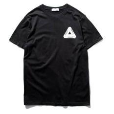 Shopaholic Kaos Katun Pria Triangle Palace O Neck / T-Shirt Hitam