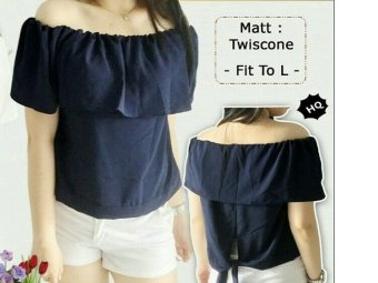 Shoppaholic Shop Blouse Sabrina Kimochi - Navy