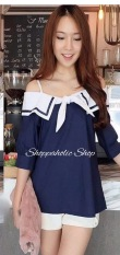 Shoppaholic Shop Blouse Sabrina Sailormoon - Navy
