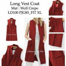 Shoppaholic Shop Long Vest Wanita - Maroon