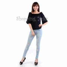 Shopping Yukz Blouse Wanita Sabrina Miranda - Hitam