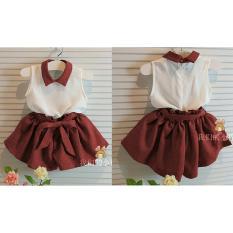 Shopping Yukz Setelan Trendy Baju dan Celana Anak Kiddy Maroon - Gratis Belt