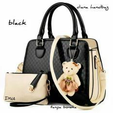Shoulders Bag / Top Handle Bag / Tas Wanita 2 in 1 (Hand Bag, Pouch) - Black