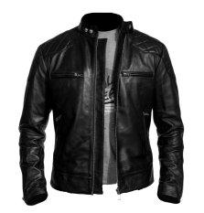 Sidnanes Men Leather Jacket Beckham - Hitam