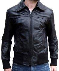 Sidnanes Men Leather Jacket Semi Formal - Hitam