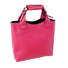 Simple Portable Shoulder Bag PU Leather Women Bag Rosy (Intl)