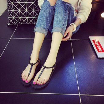 1dac74746 Simple Style Women Flip Flops Roman Shoes Summer Beach Shoes Female Flat  Sandals Anti-slip