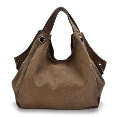 Simple Style Women's Vintage Canvas Totes Bag Shoulder Bags (Coffee)