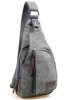 Sk Mall 020 Korean Style Canvas Man Shoulder Bags / Sling Bag / Messenger Bags (Grey)
