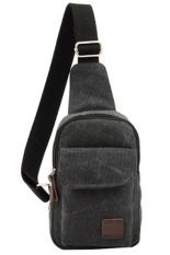 Sk Mall 021 Korean Style Canvas Man Shoulder Bags (Black) - Intl
