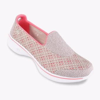Harga Skechers GOwalk 4 - Kindle Women s Lifestyle Shoes - Taupe ... 32e9b00083