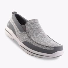 Skechers Relaxed Fit Harper Moven Men's Sneakers - Abu-abu