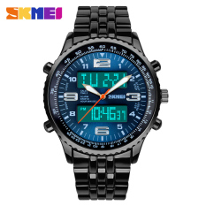 SKMEI 1032 Men's Sports Zinc Alloy Ditial Analog Wrist Watch Blue + Black (1 x CR2025)