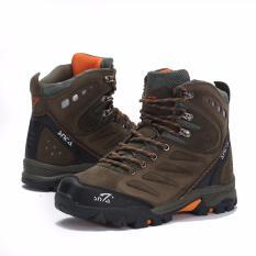 SNTA Sepatu Hiking/Gunung Semi Waterproof Sepatu Outdoor 477 - Hijau Orange