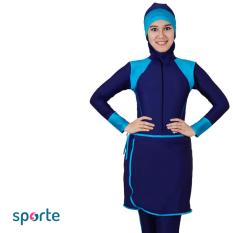 SPORTE Baju Renang Muslim Slimfit SM 27 Navy Blue