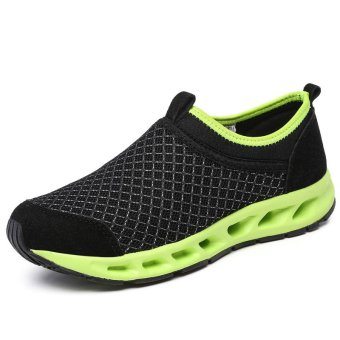 Sports casual shoes male net shoes feet lazy shoes mesh shoessummer hollow breathable light - intl