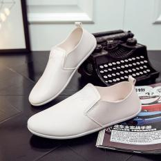 Spring And Autumn New Men's Casual Shoes Men Driving Shoes Doug Male Leather Shoes Breathable Trend - Intl