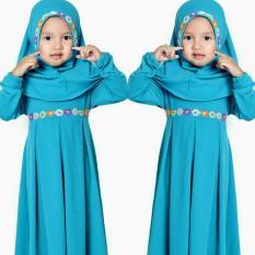 SR Collection Hijab Anak Falina Kombinasi Renda - Biru