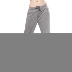 Straight Sports Casual Hip-Hop Pants Women's Harem Pants Fleece Sweatpants (Intl)