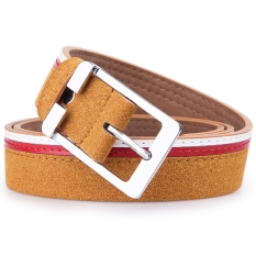 Stylish Alloy Pin Buckle Faux Leather Belt (Brown)